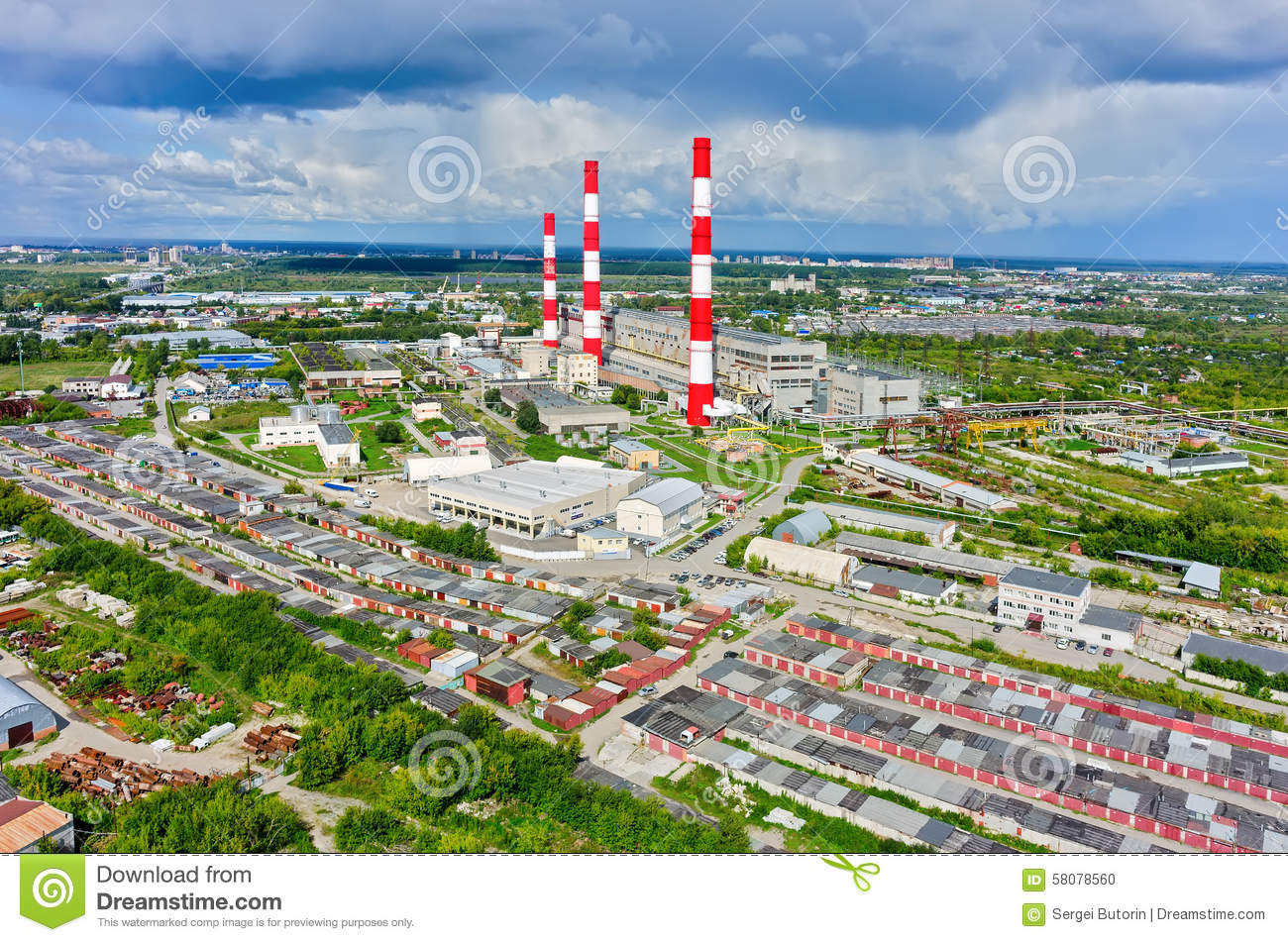 Tyumen Russia  city photo : Tyumen, Russia May 19, 2015: Aerial view on combined heat and power ...