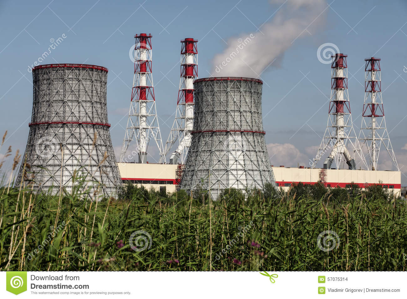 Combined Heat And Power Plant, Electrical Station ...