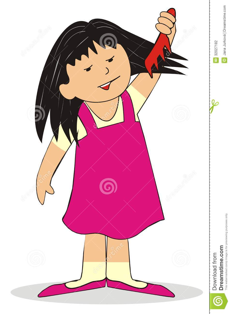 Combing the girl stock vector. Image of advertising ...