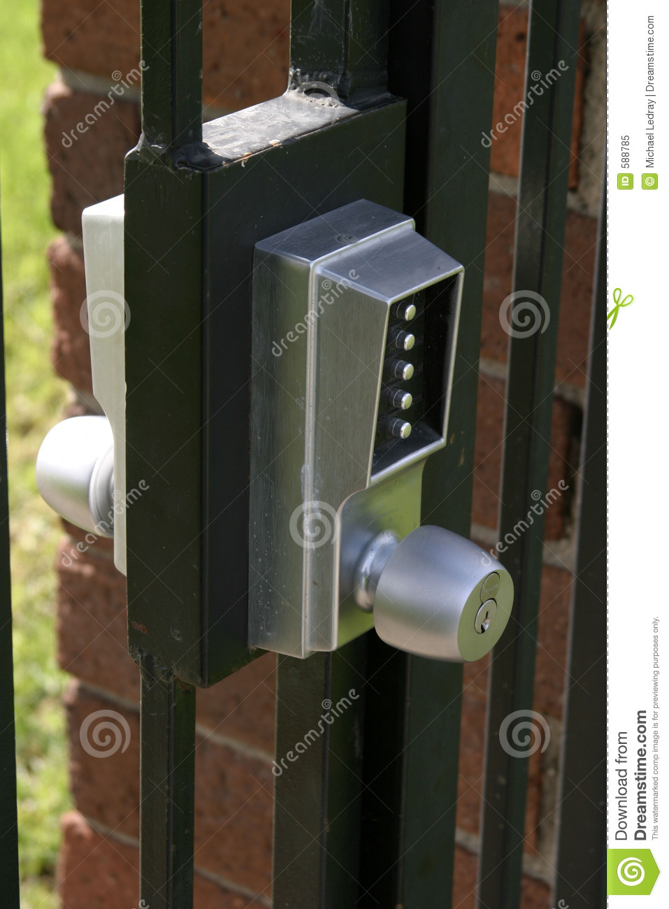 Combo Lock On A Gate Stock Image Image Of Outdoor