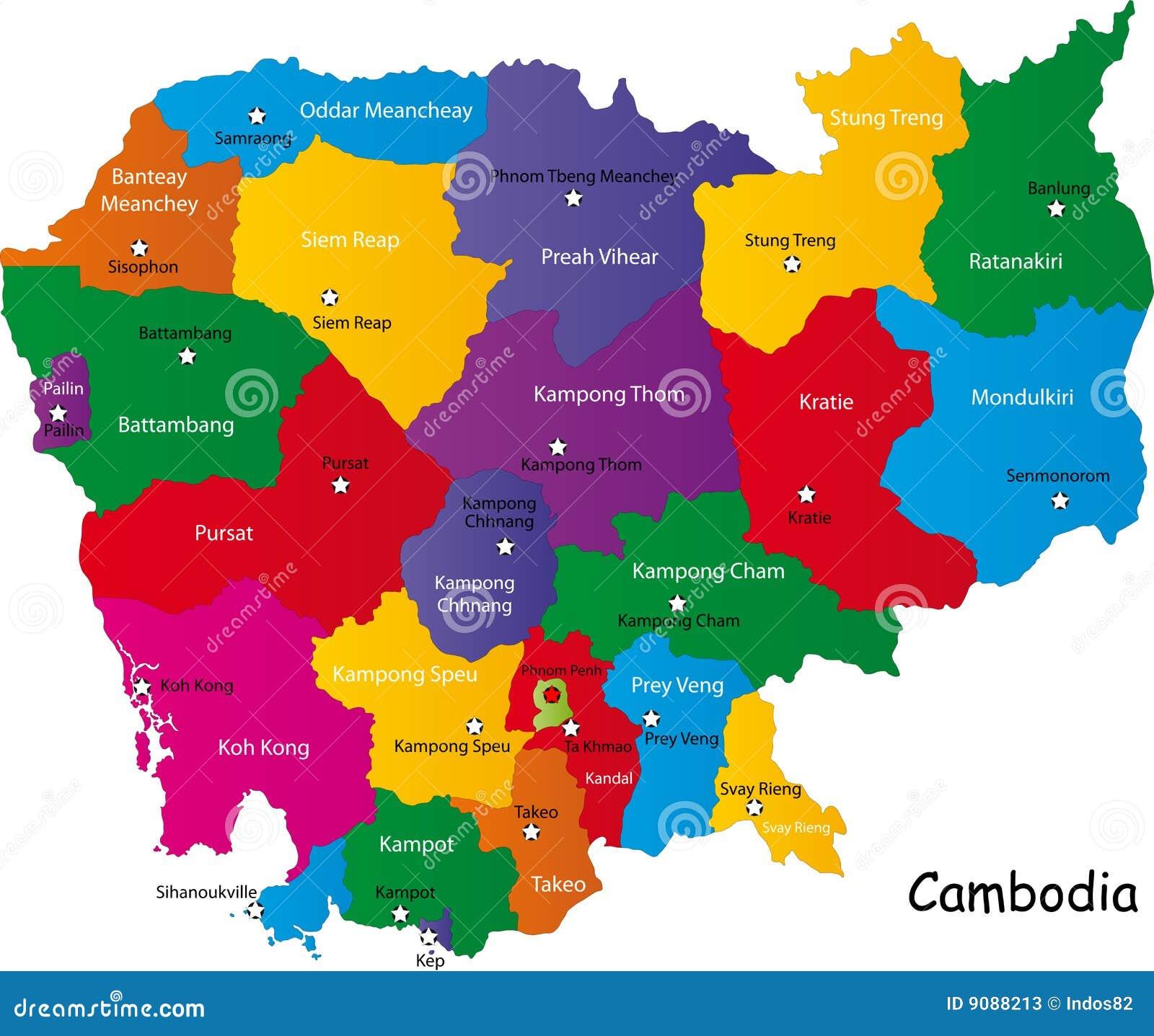 Combodia Karte