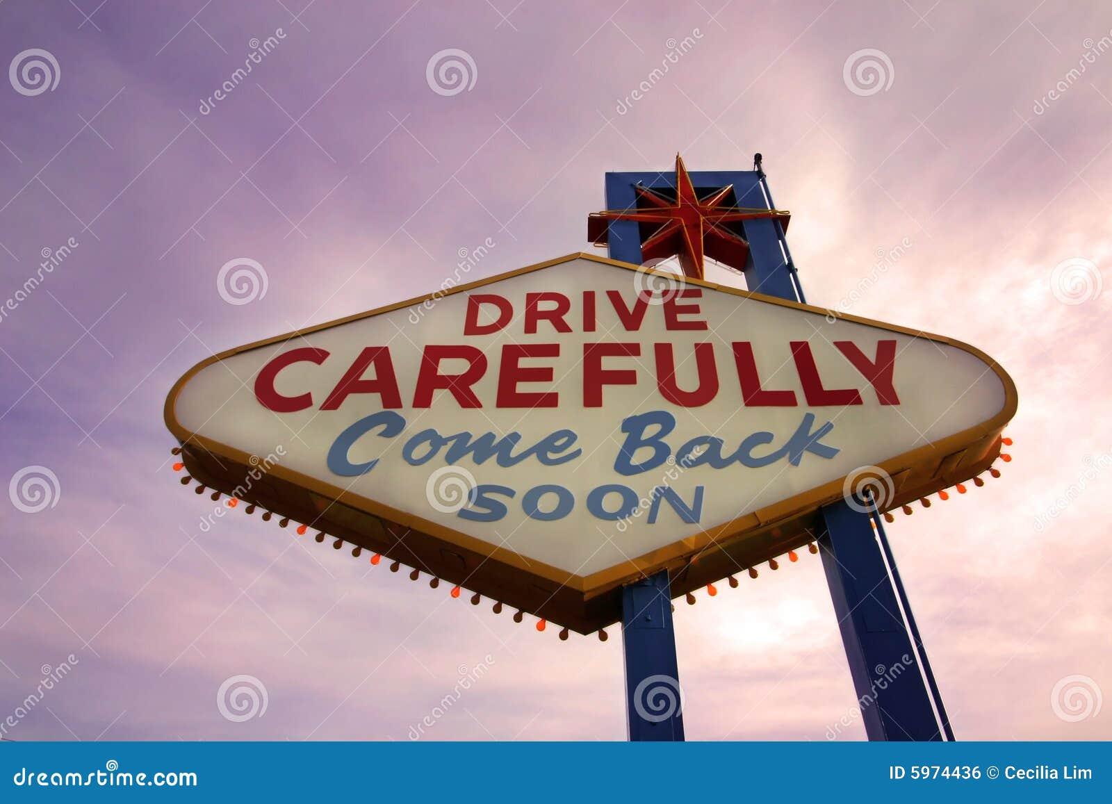 come back soon las vegas sign at sunset stock photo image 5974436. Black Bedroom Furniture Sets. Home Design Ideas