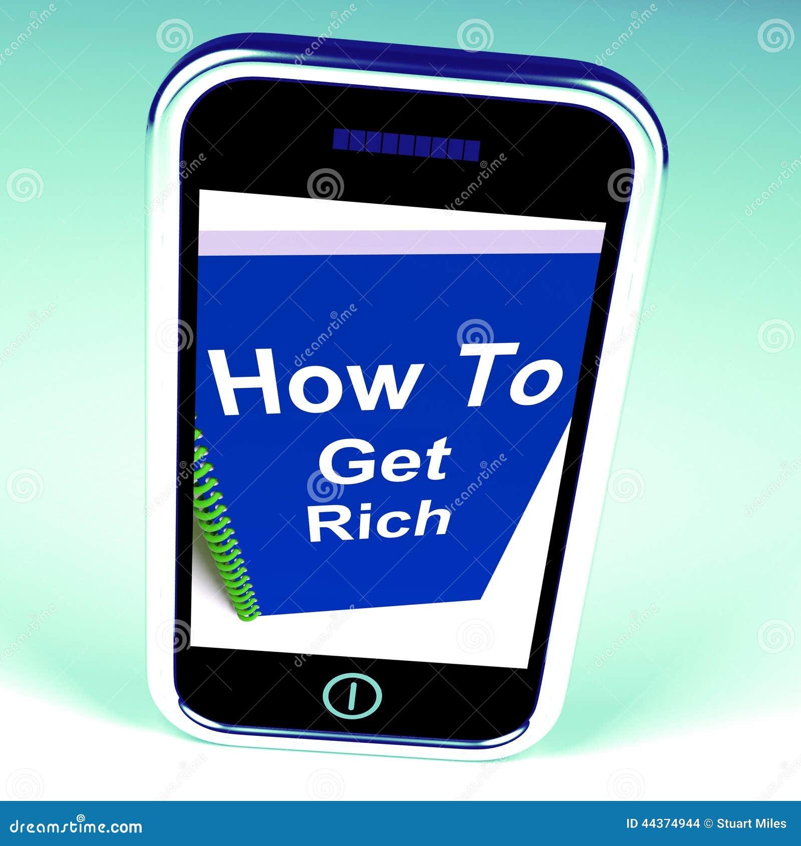 Come diventare ricco sul telefono rappresenta ottenere ricco