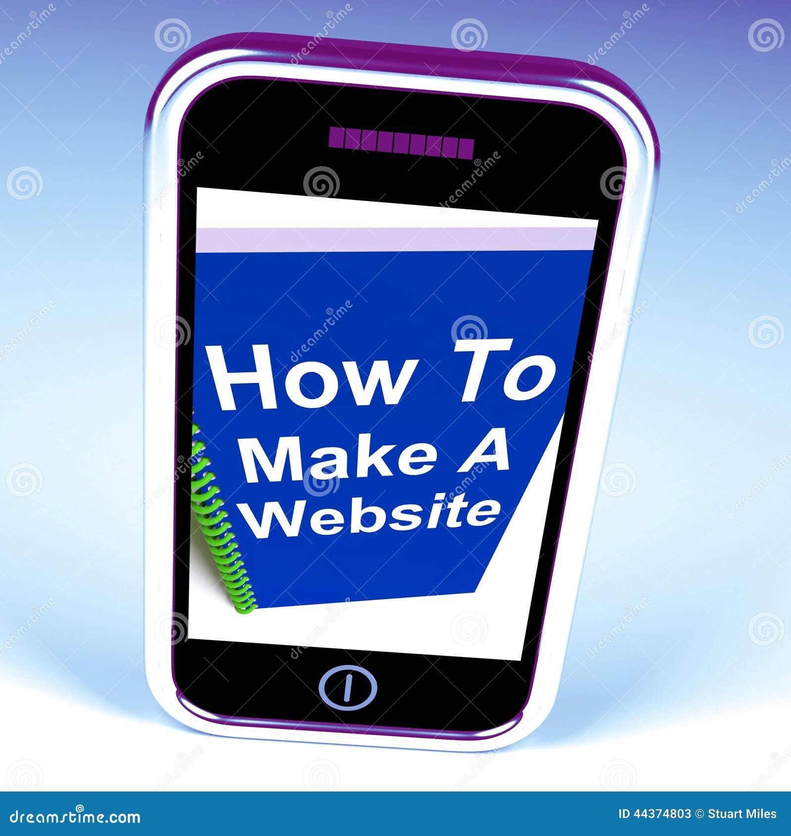 Come fare un sito Web sul telefono mostra la strategia online