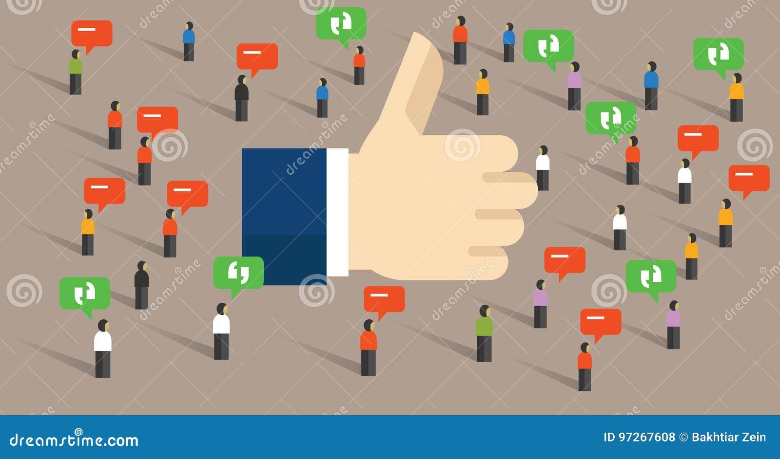 Come i pollici aumenti il simbolo pubblico del pubblico di Internet di impegno di media sociali di risposte