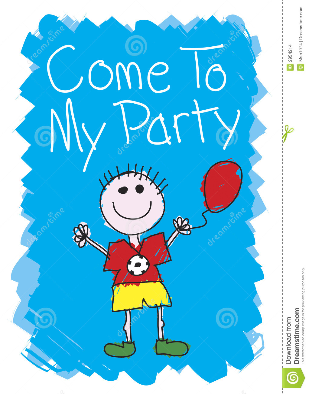 Come To My Party - Boy Stock Images - Image: 2954214