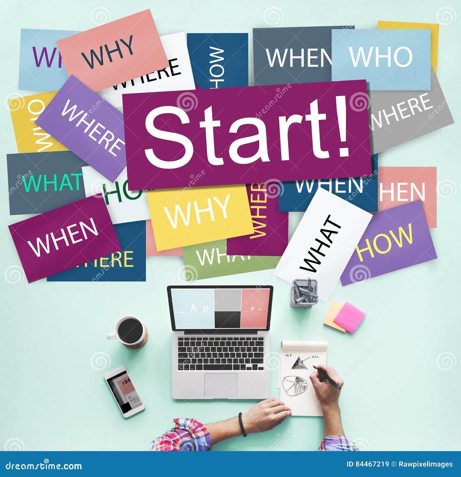 Comece começar o conceito Startup da motivação do lançamento para a frente
