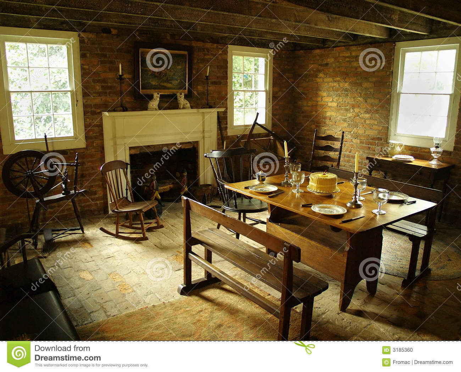 Comedor antiguo foto de archivo. Imagen de herencia, silla - 3185360