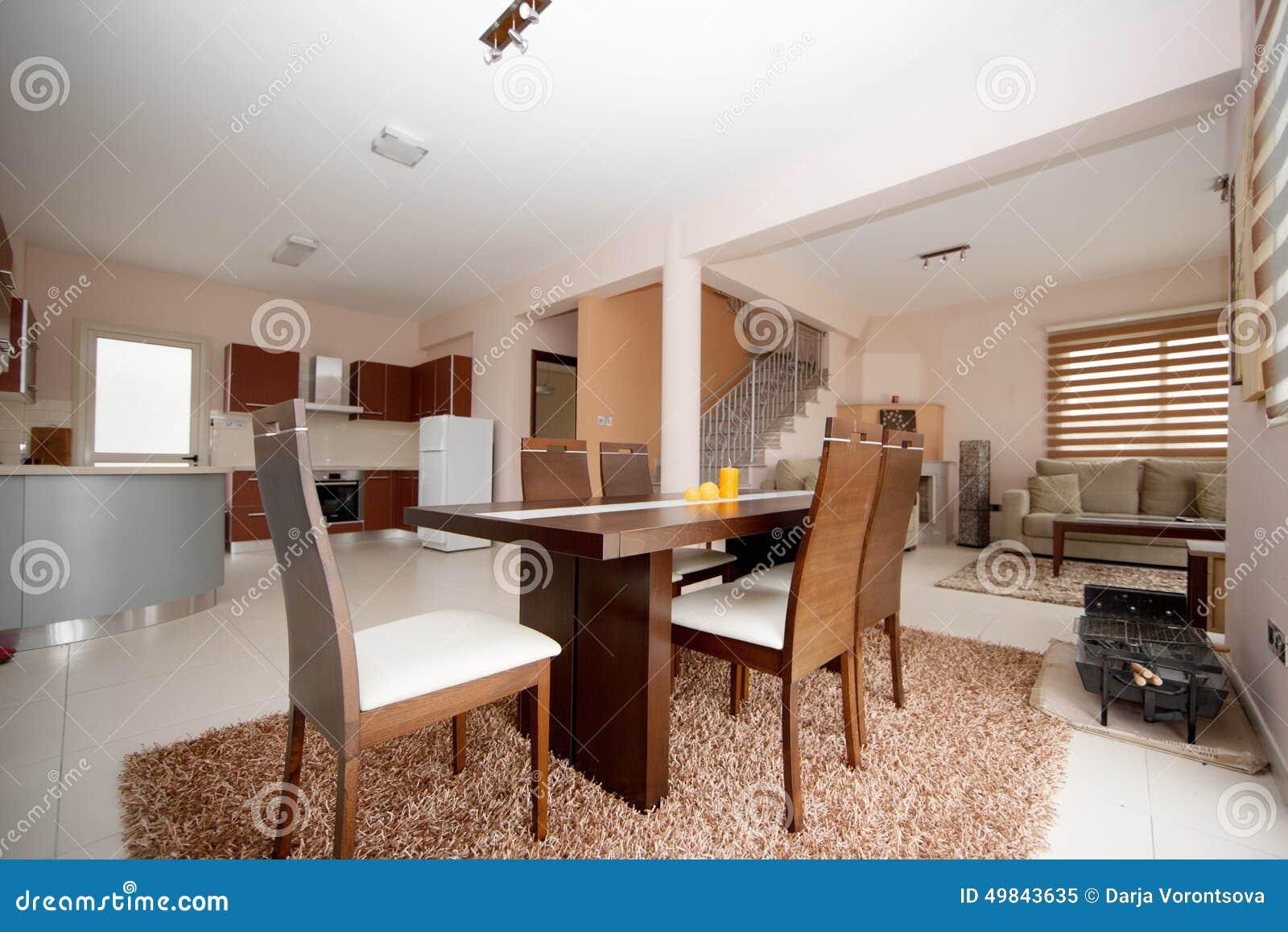 comedor cocina y sala de estar imagen de archivo imagen