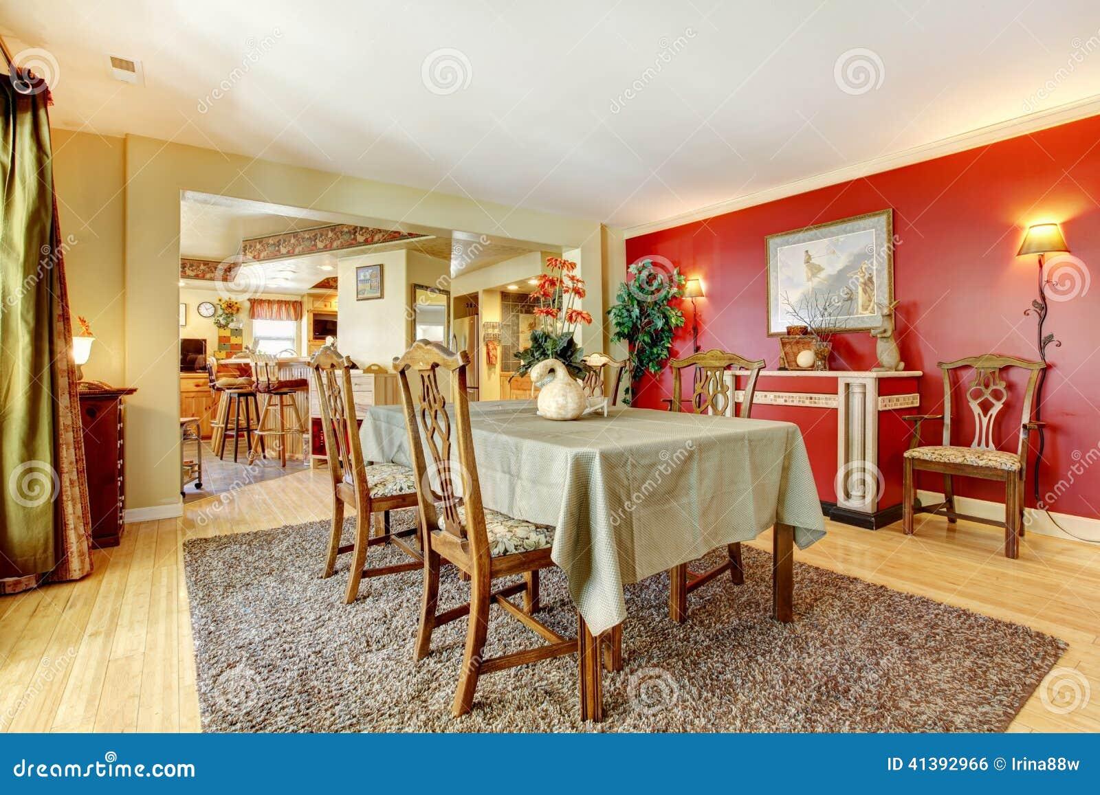 Comedor Con Las Paredes Del Contraste Foto de archivo - Imagen de ...