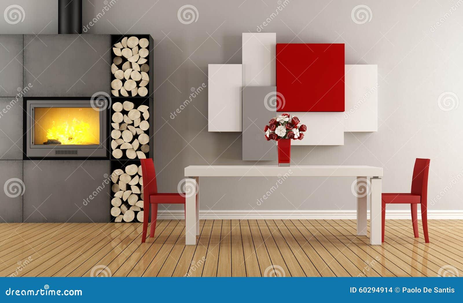 Comedor contemporáneo stock de ilustración. Ilustración de ...