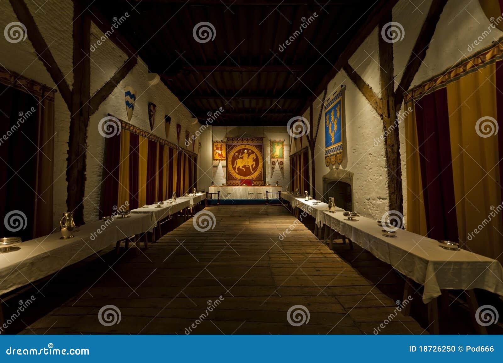 Comedor de los reyes del castillo de Dover