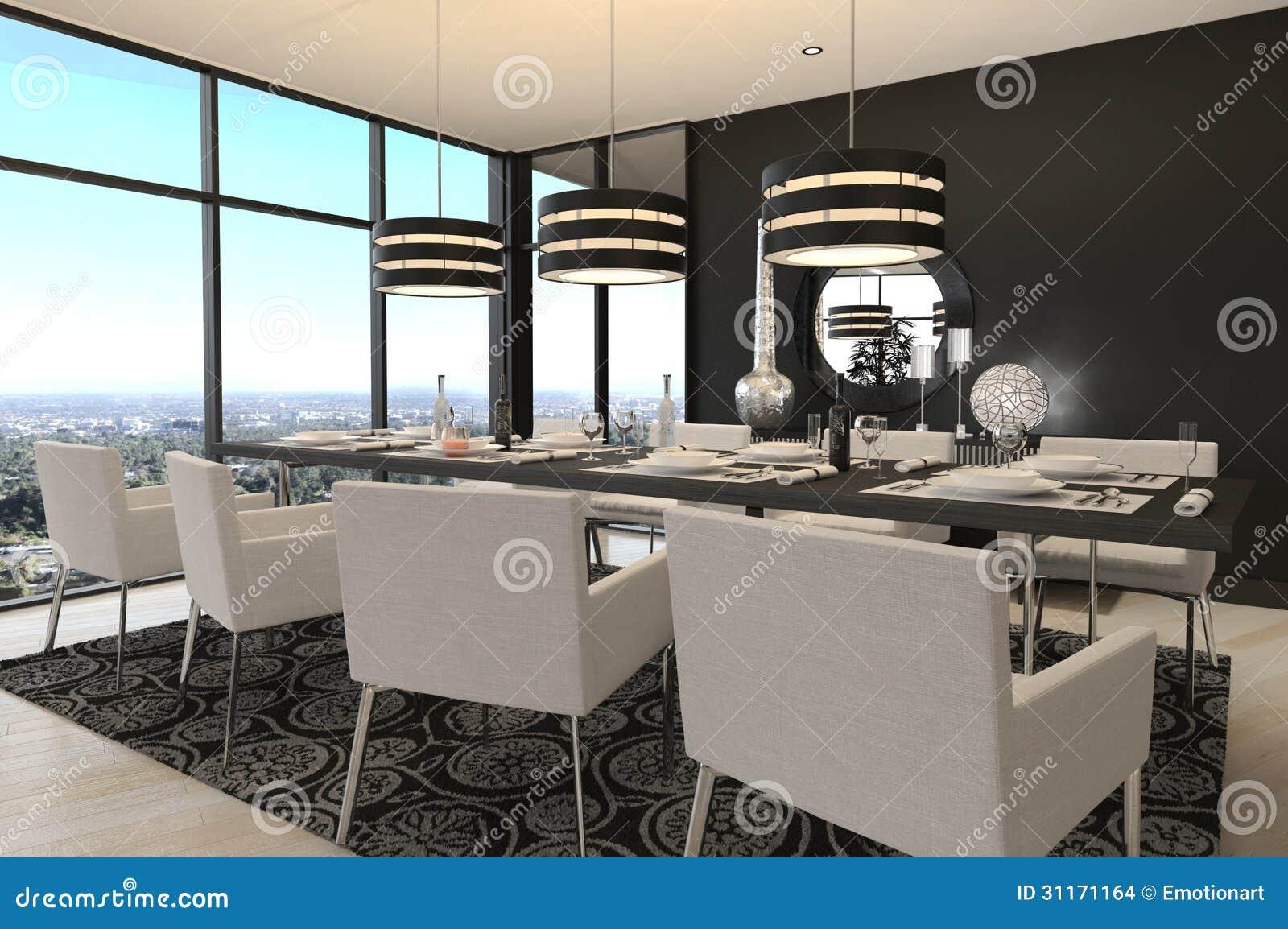Comedor Del Diseño Moderno | Interior De La Sala De Estar Stock de ...