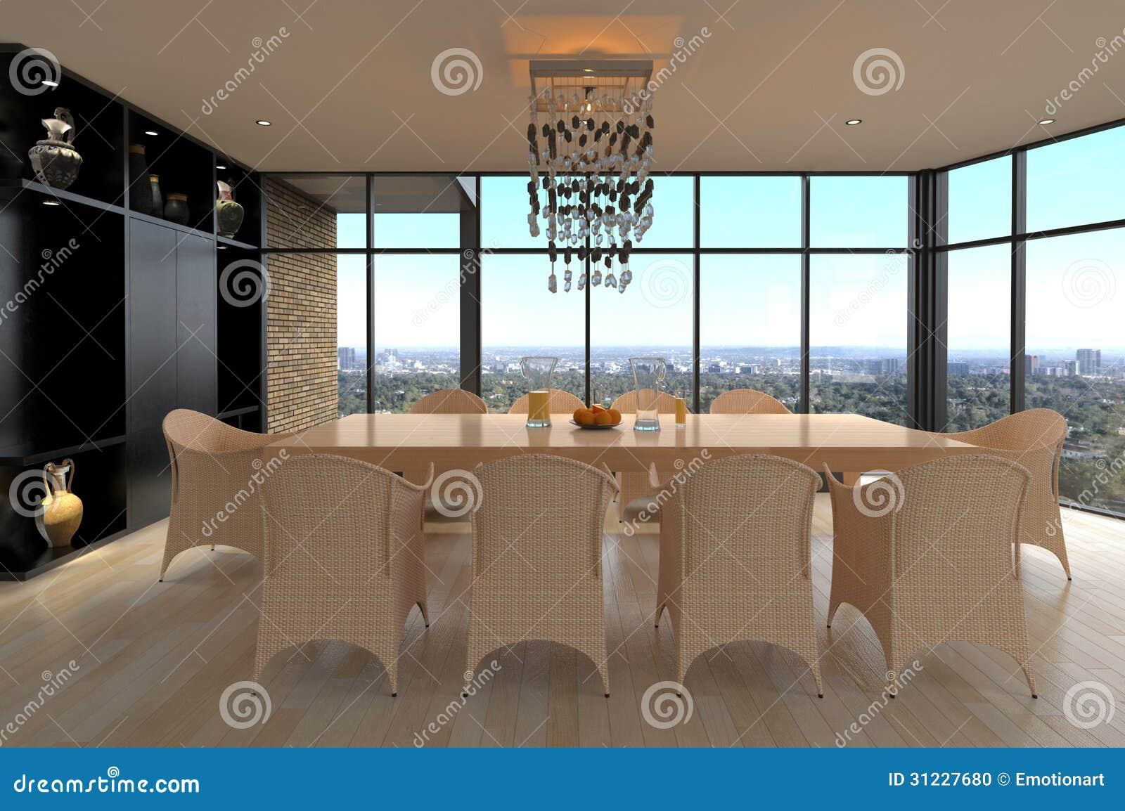 Comedor del dise o moderno interior de la sala de estar for Diseno de interiores sala de estar comedor