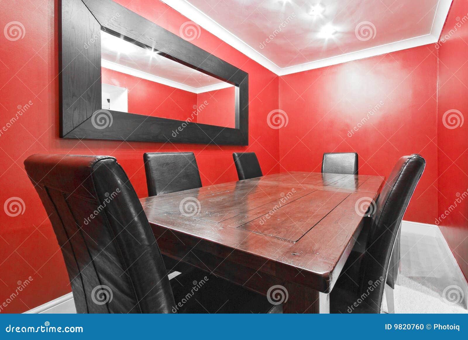 Comedor en el rojo 2 foto de archivo imagen 9820760 for Comedor vector