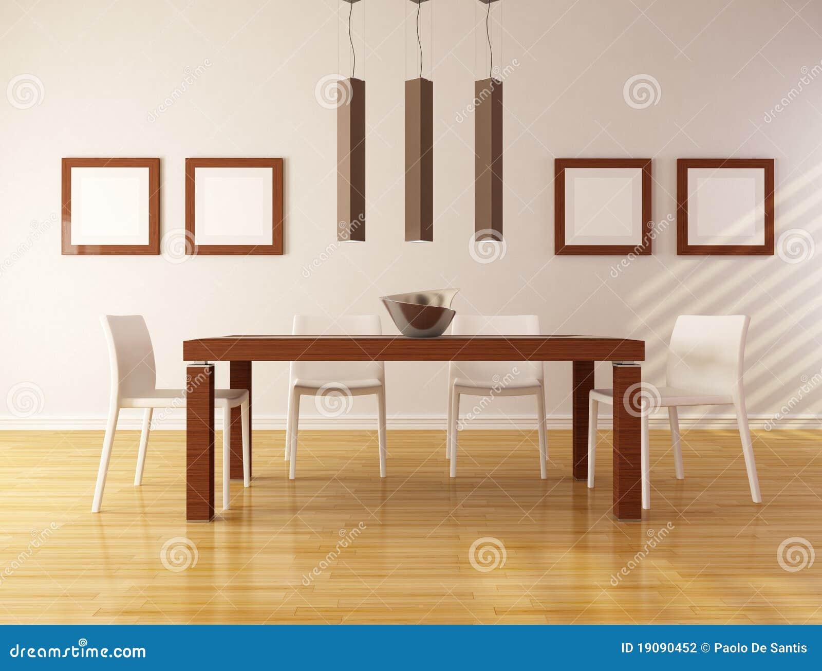 Comedor minimalista fotograf a de archivo imagen 19090452 for Comedor minimalista