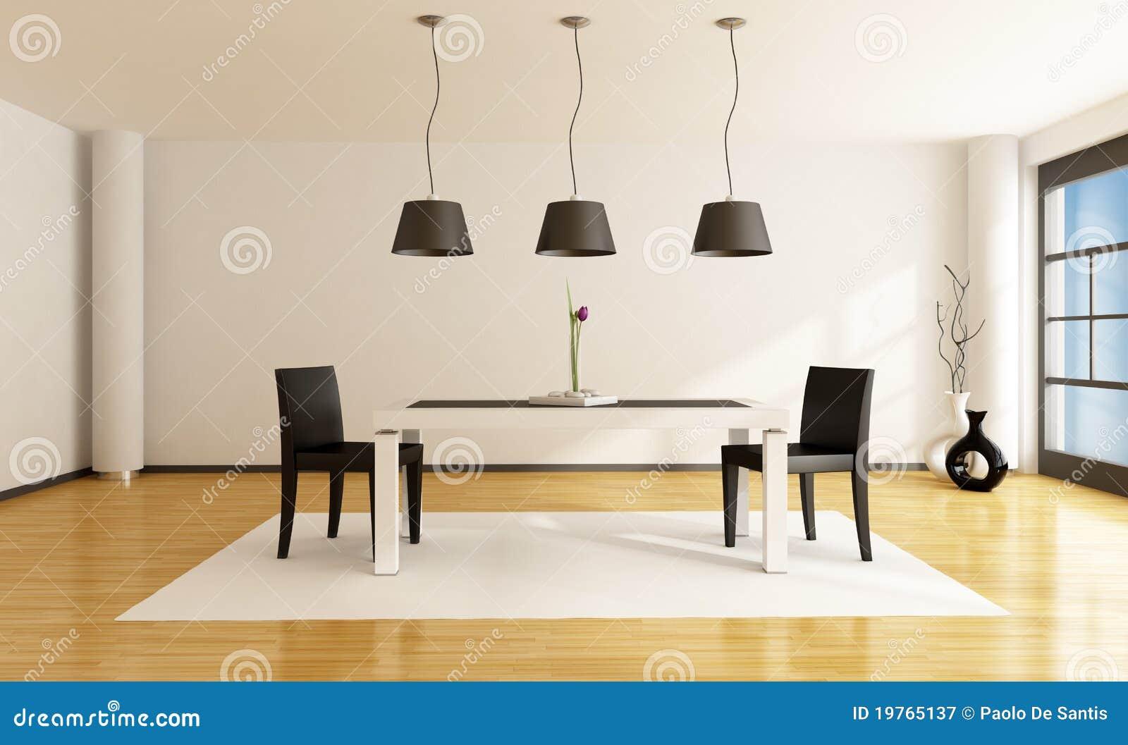 Comedor minimalista stock de ilustraci n imagen de for Comedor minimalista