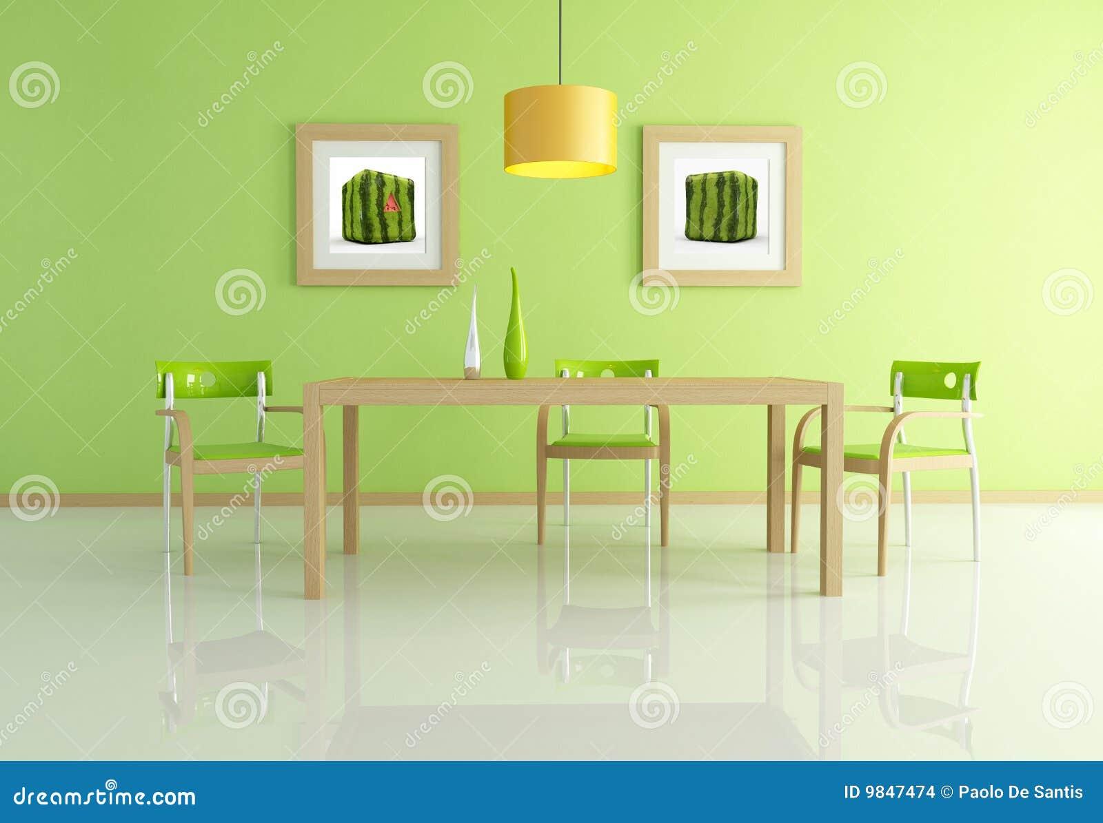 Comedor verde contempor neo imagenes de archivo imagen for Comedor contemporaneo
