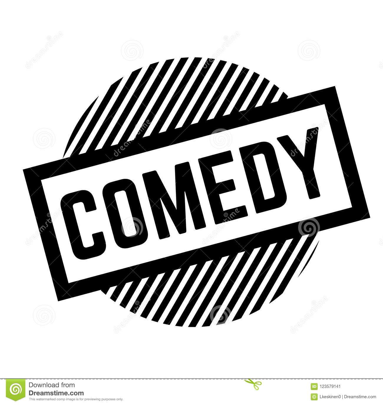 Comedy black stamp on white background sign label sticker