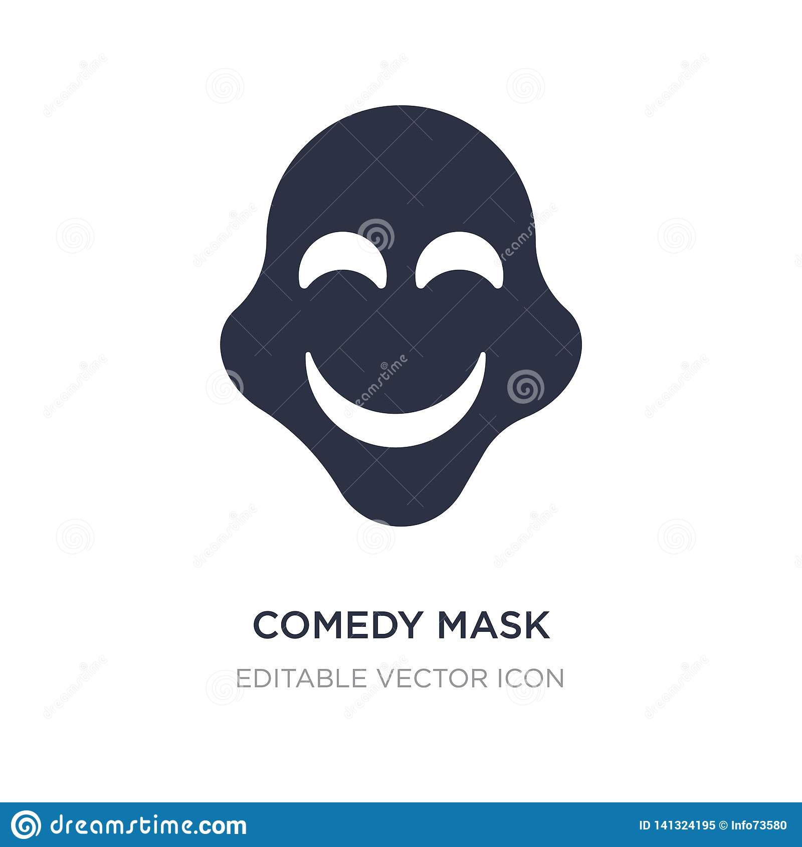 comedy mask icon on white background. Simple element illustration from Education concept