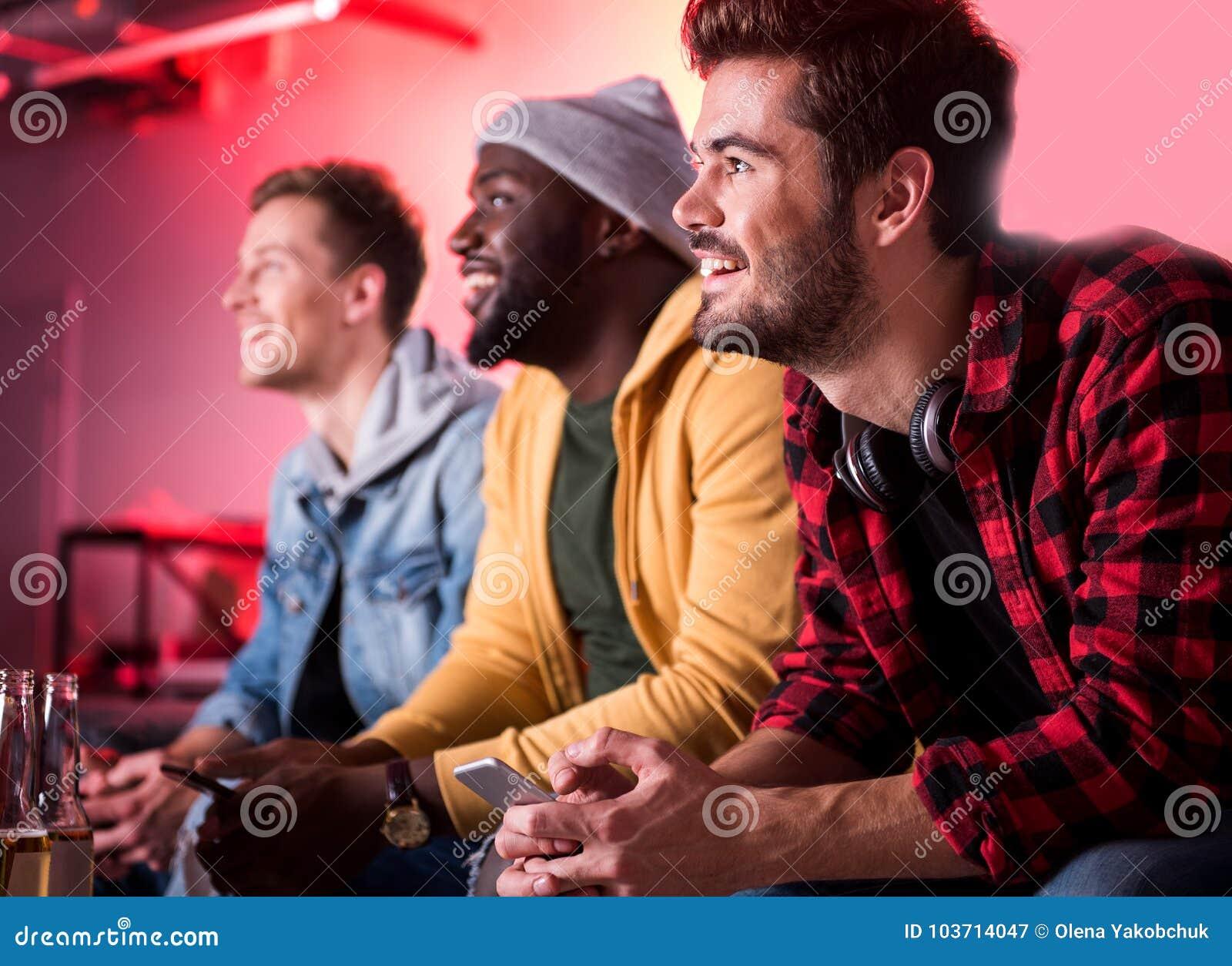 Males having fun