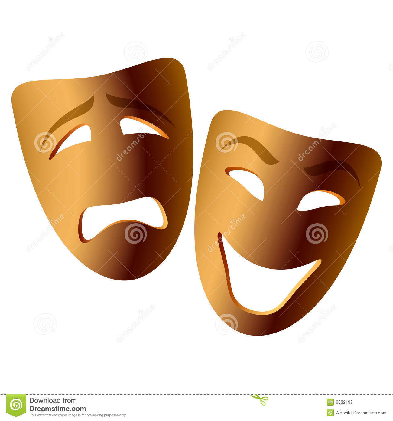 Comedy: Comedy And Tragedy Masks Stock Vector. Illustration Of