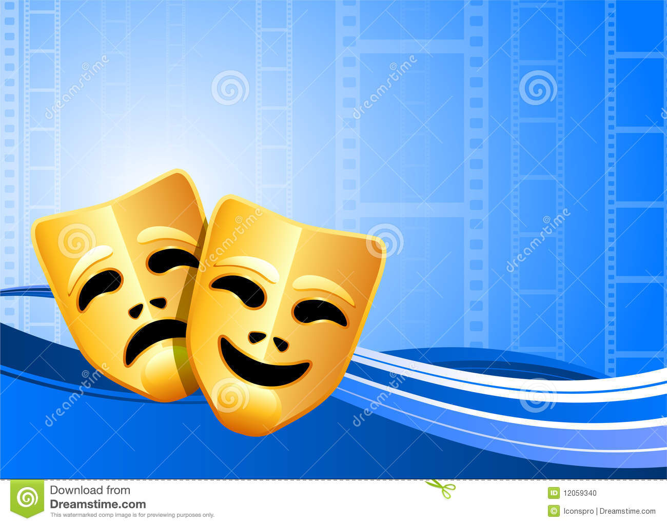 Comedy And Tragedy Theater Masks Background Stock Photo ...