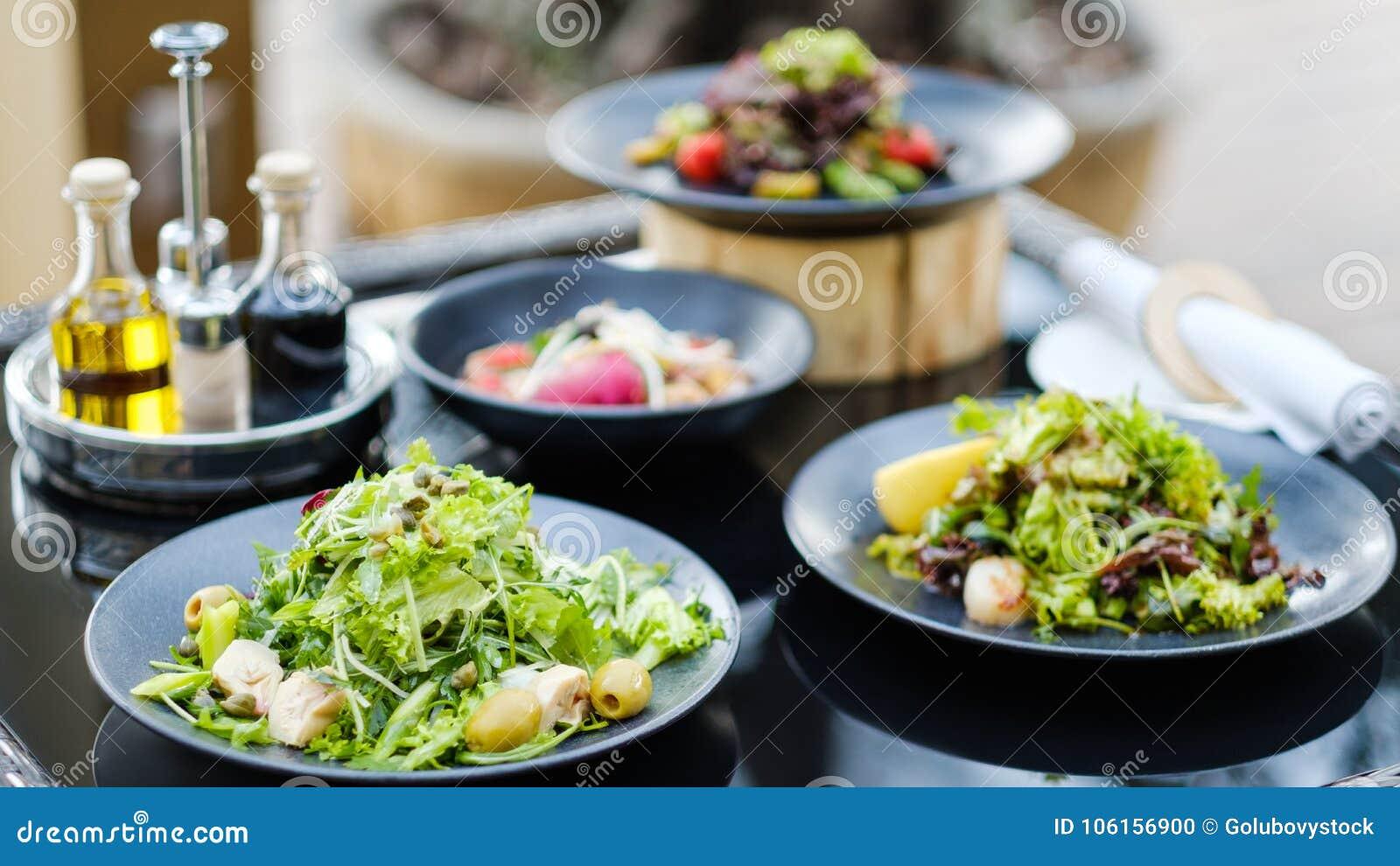 Comer saudável da recepção das refeições do restaurante do banquete