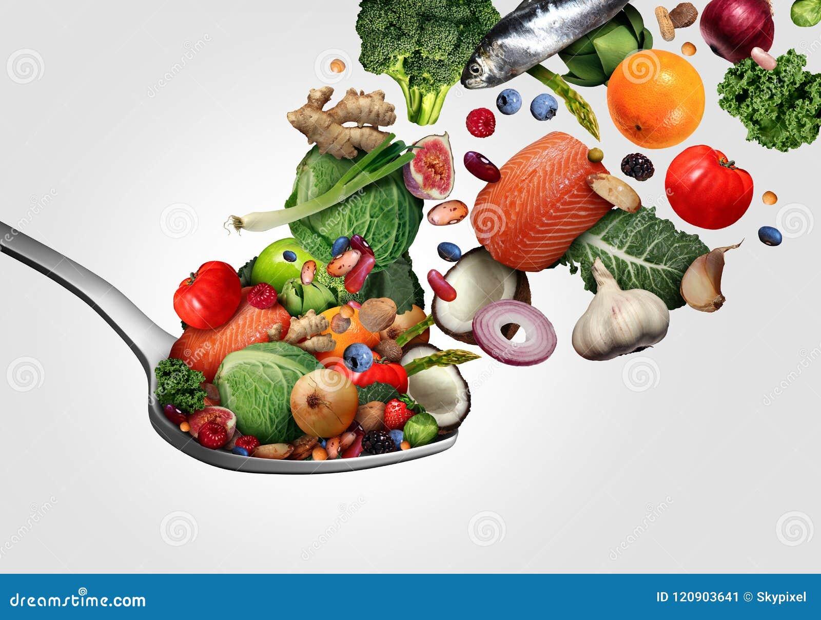 Comer saudável do alimento