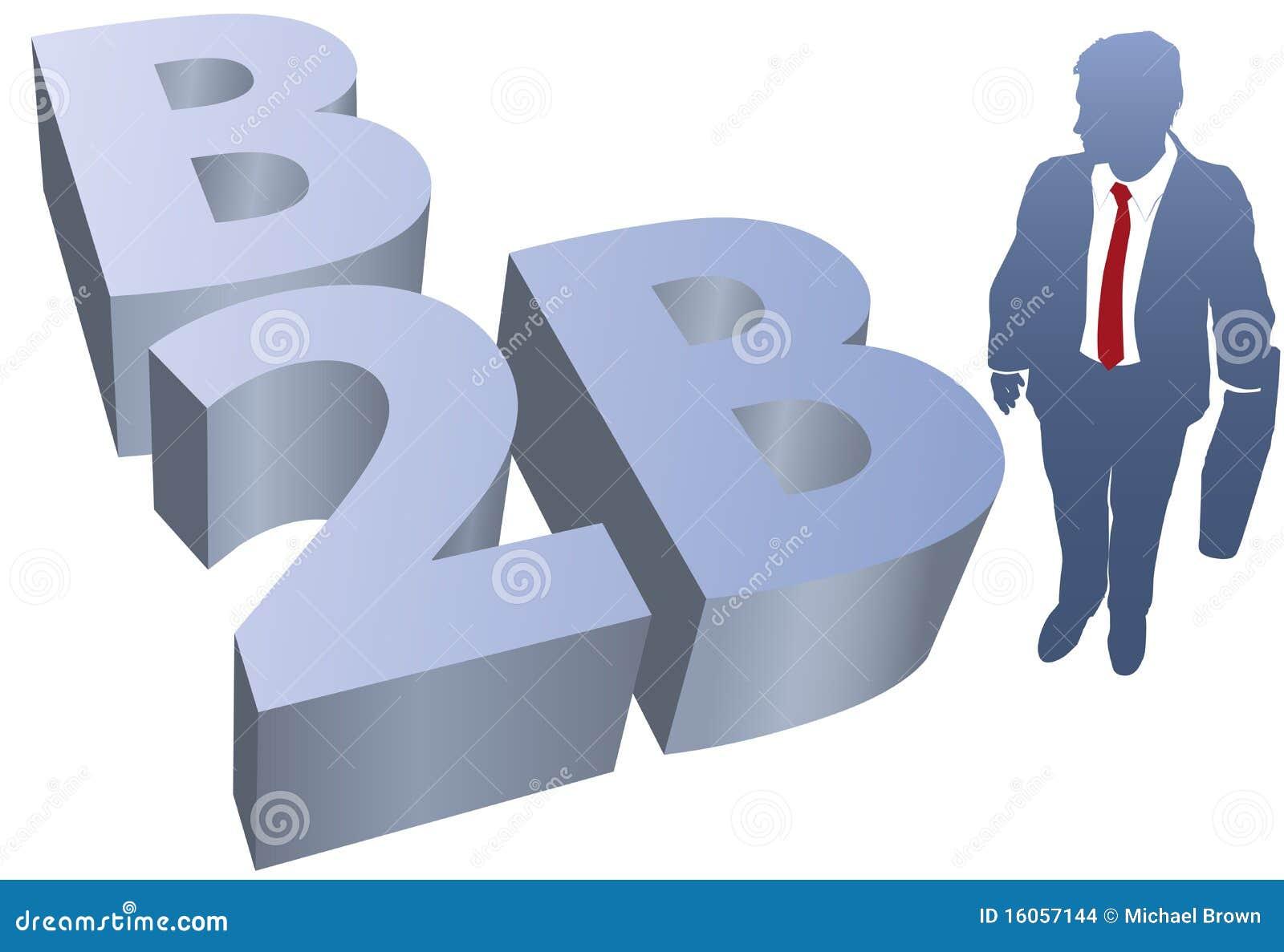 Comercio electrónico del hombre de negocios de B2B