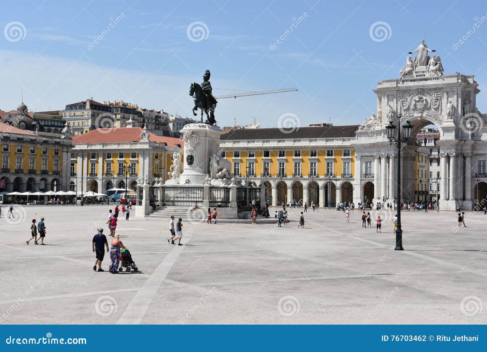 Comercioen gör den lisbon portugal pracaen