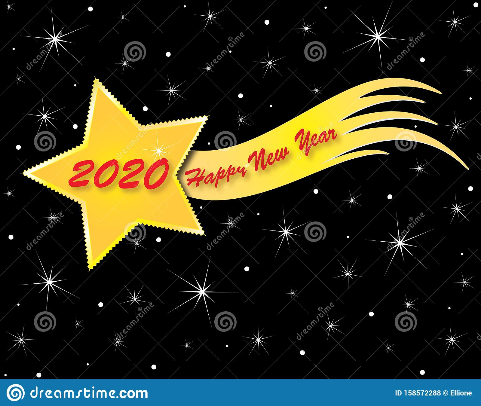 Christmas Comet 2020 Holidas Theme Christmas And New Year Stock Vector   Illustration