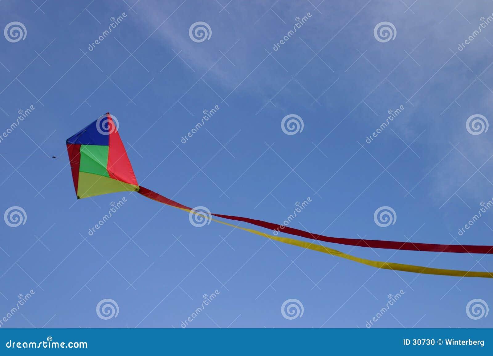 Download Cometa I foto de archivo. Imagen de viento, azul, coloreado - 30730