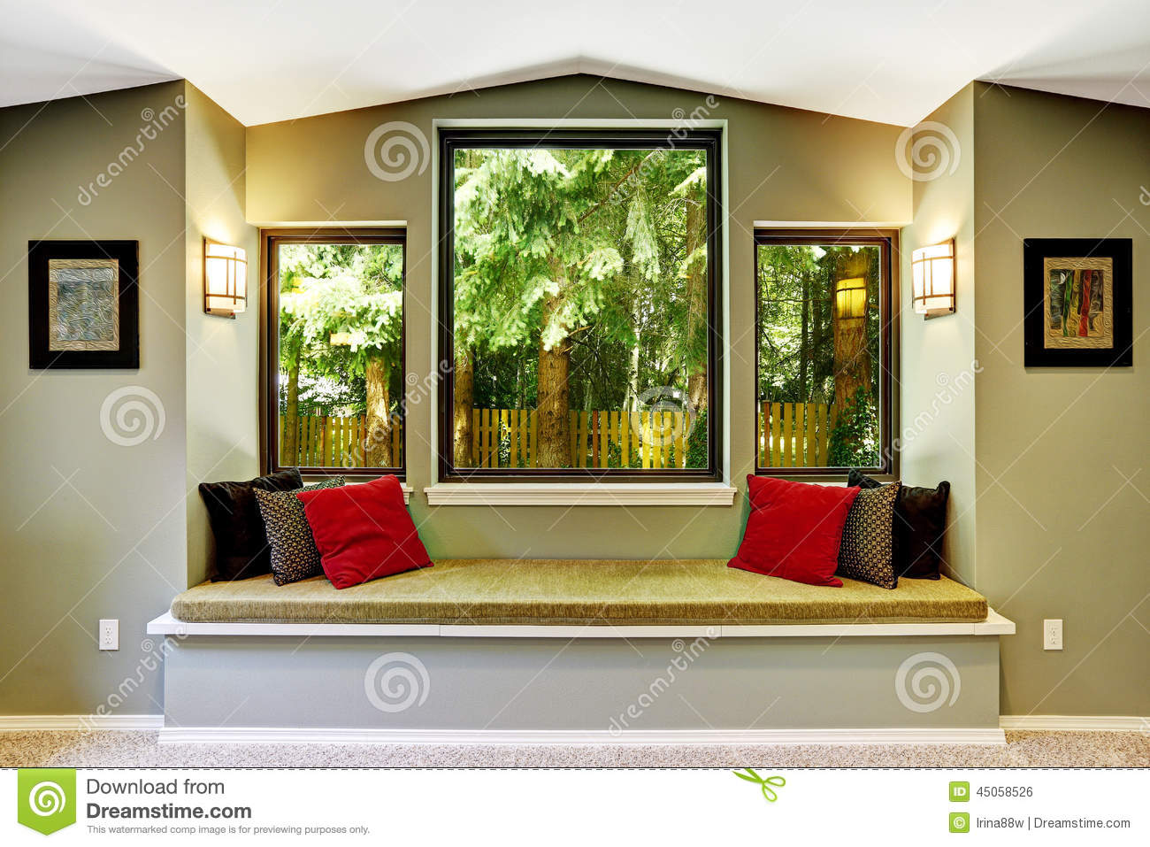 Comfort Sitting Area By The Window Stock Photo Image