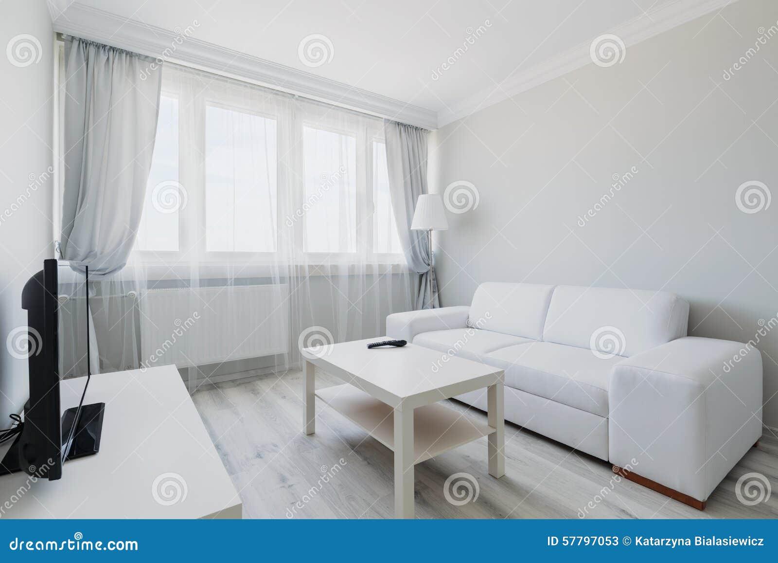 Comfortabele Lichte Woonkamer Stock Afbeelding - Afbeelding ...