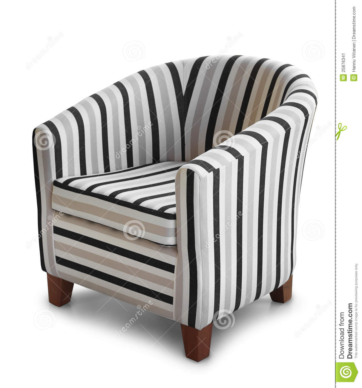 Comfortable Armchair Isolated Stock Image - Image: 25876341