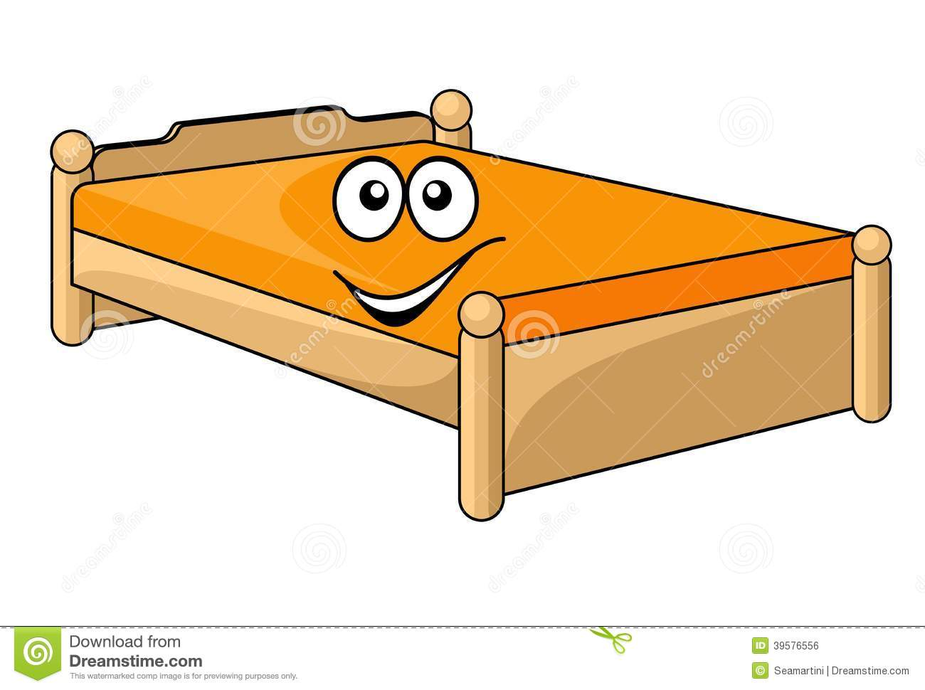 Comfortable Cartoon Bed Stock Vector Illustration Of Icon