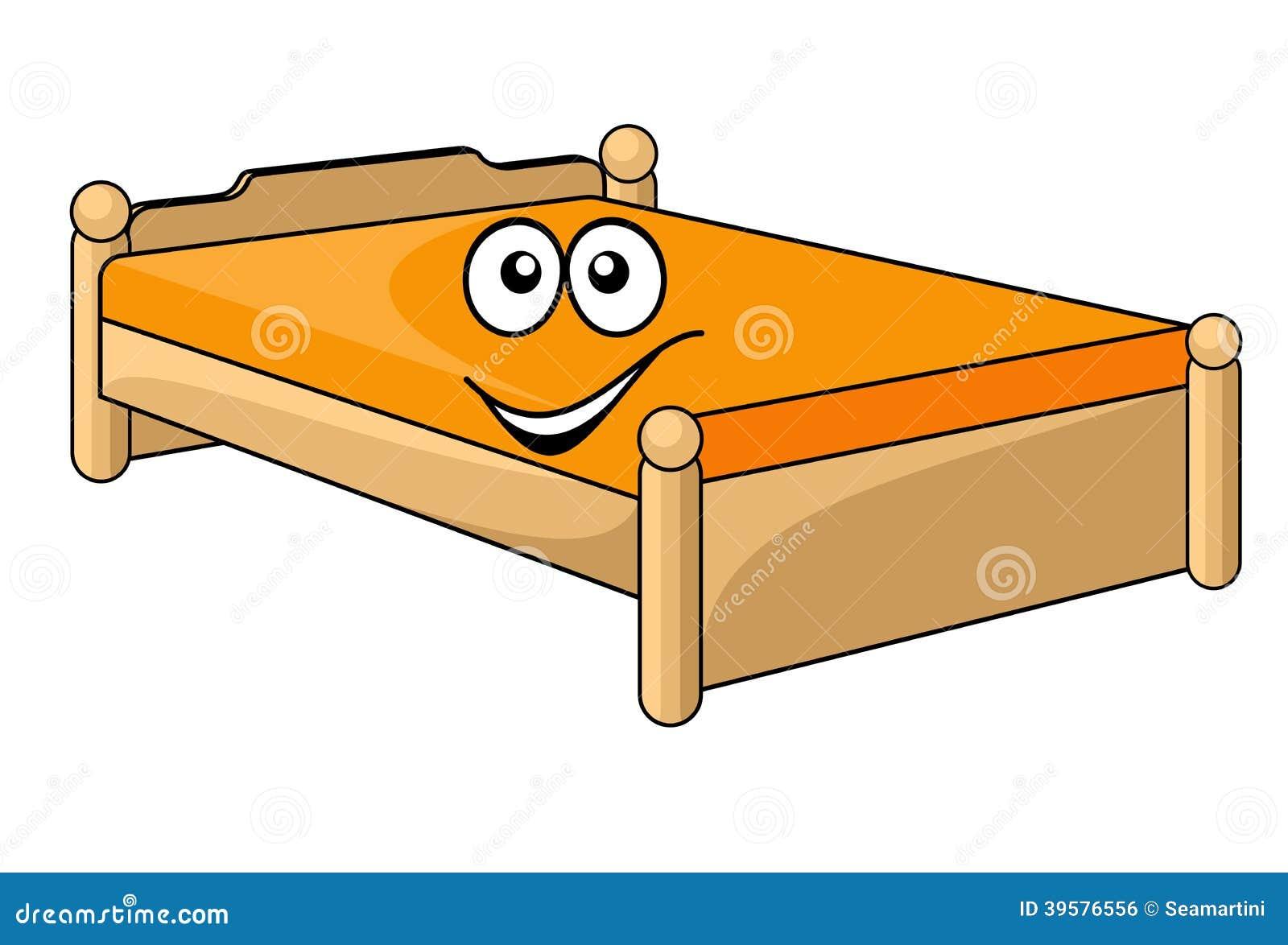 Comfortable Cartoon Bed Stock Vector Image 39576556