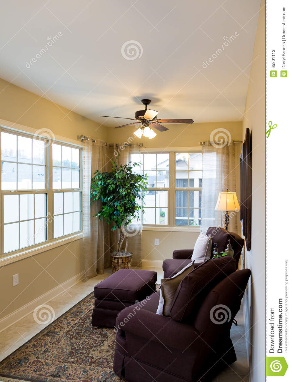 Comfortable Chairs In Sunroom Stock Image Image Of Furniture