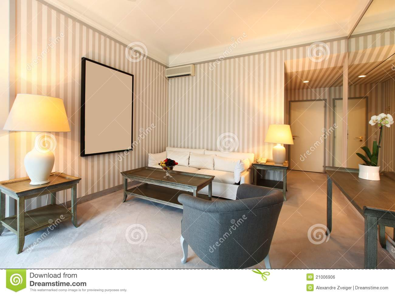 comfortable classic living room royalty free stock image