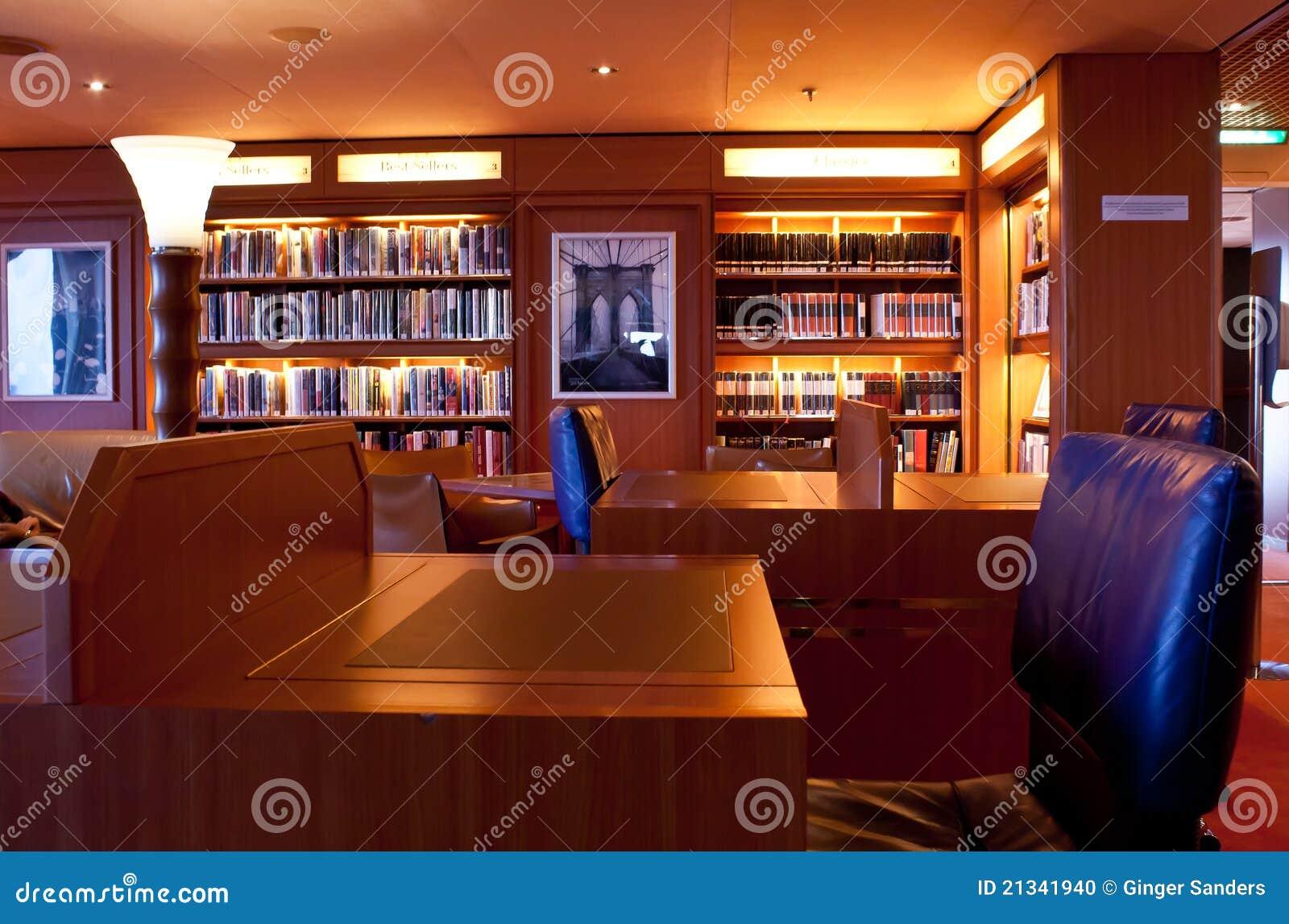 Comfortable Cruise Ship Library