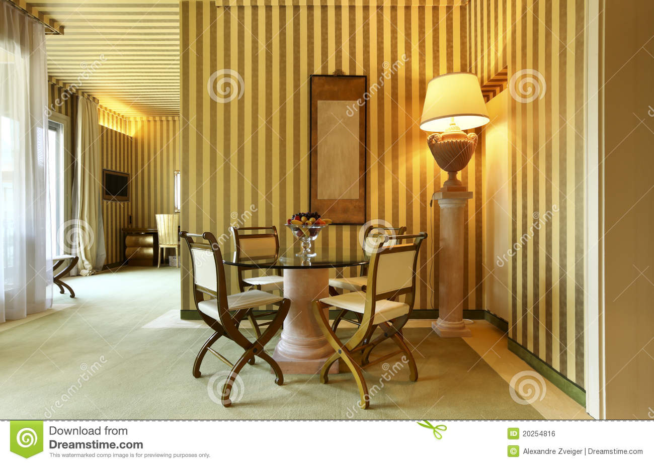 Comfortable dining room royalty free stock image image for Comfortable dining room