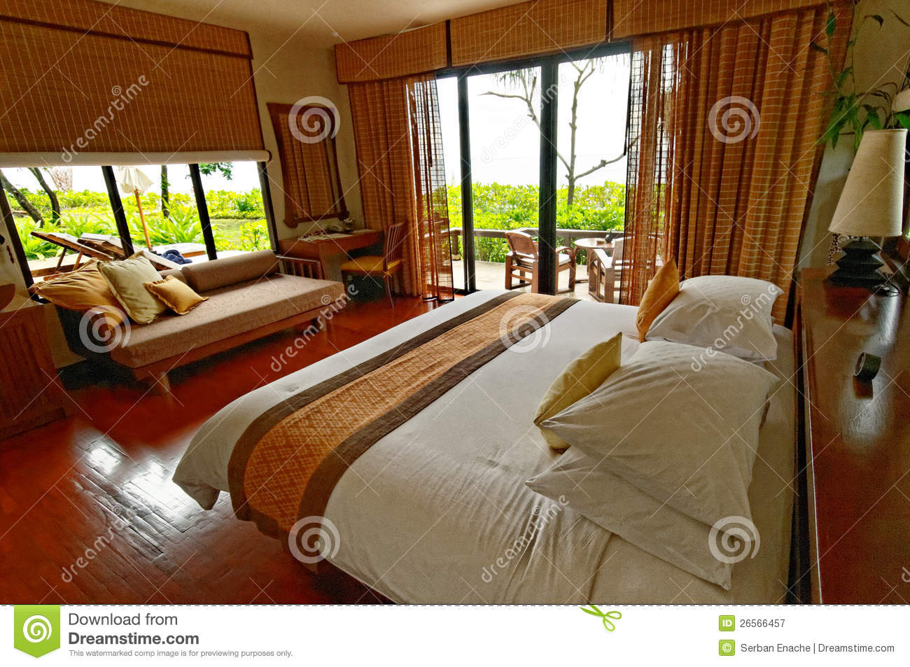 Comfortable hotel room royalty free stock photography for Comfy hotels resorts