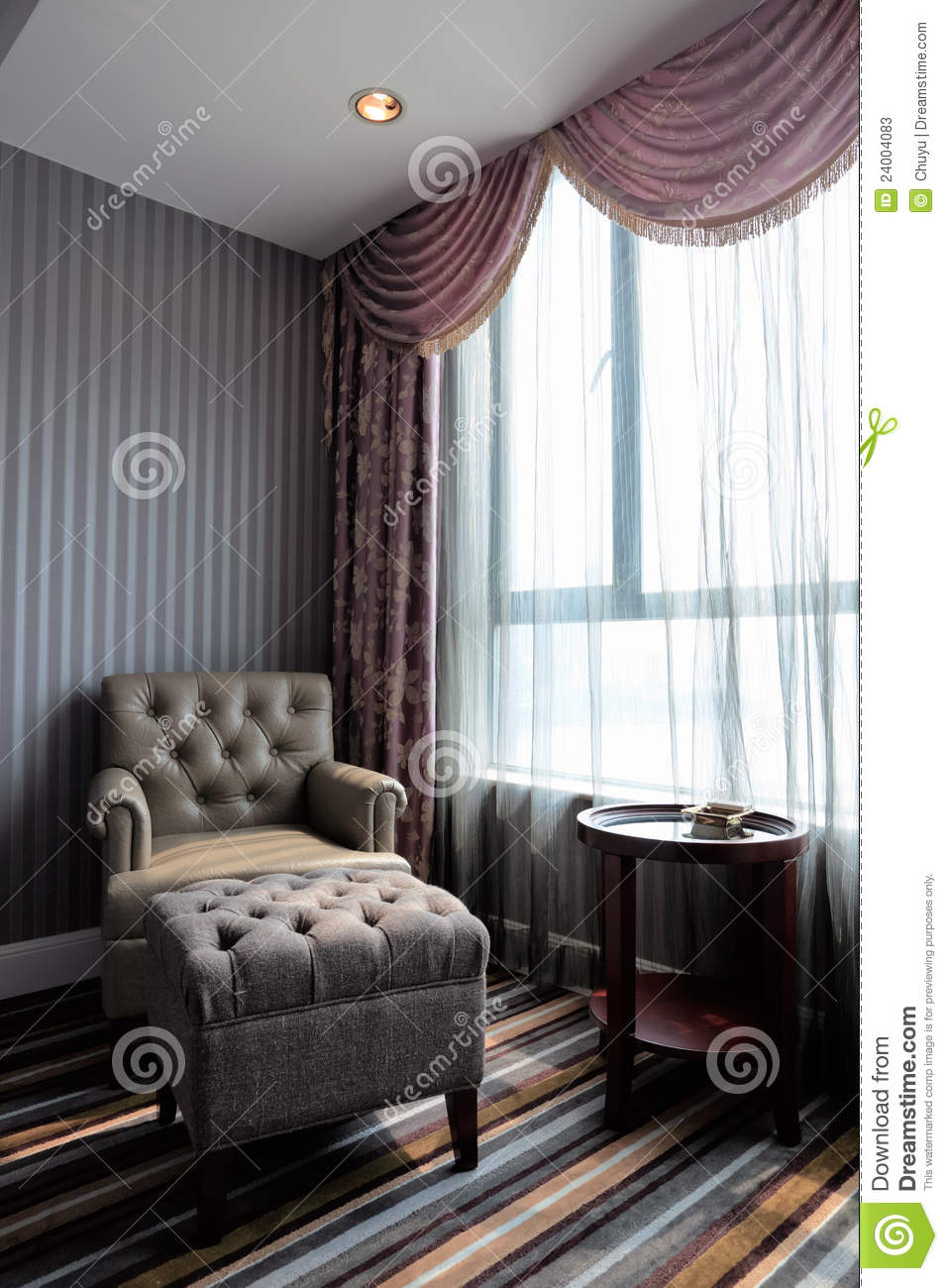 Comfortable room corner stock image for Comfy hotels resorts