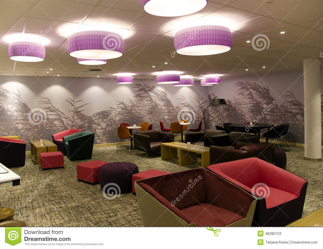 Comfortable interior of lobby in modern hotel editorial stock photo image 46280753 - Comfy interiors ...