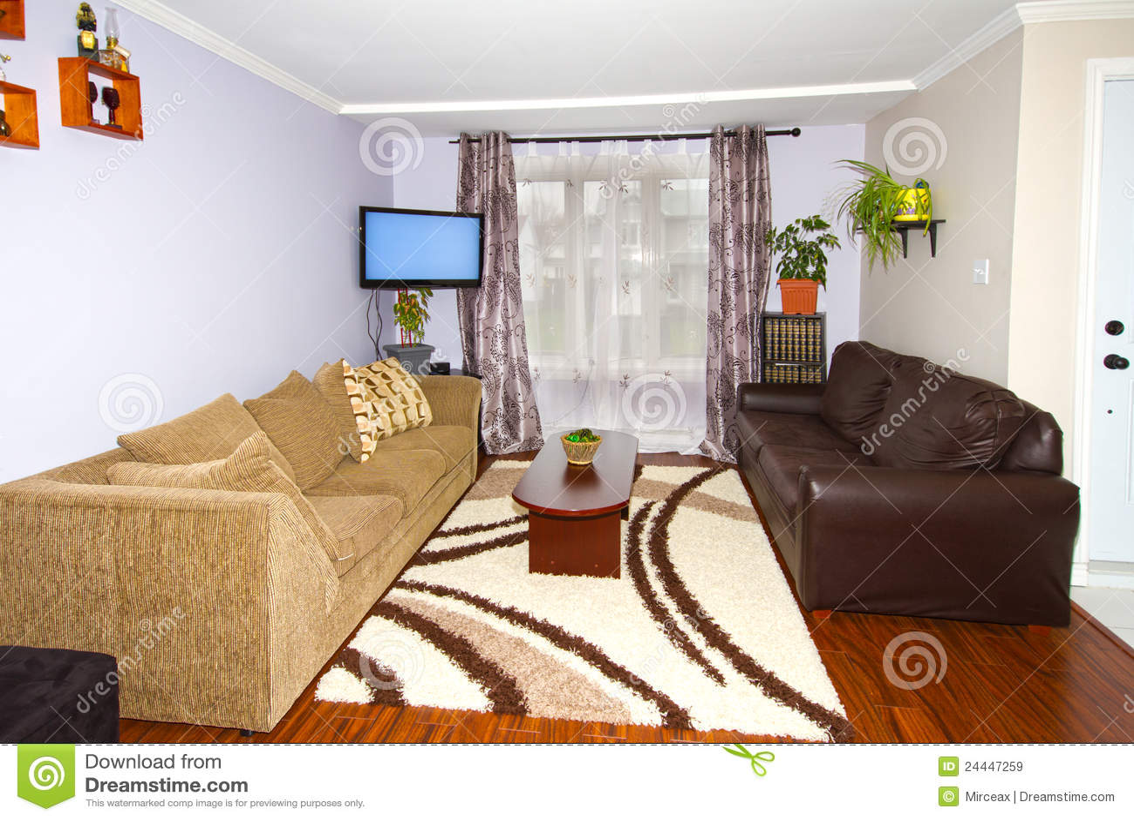 Comfortable living room. stock image. Image of real, home ... on Comfortable Living  id=72147
