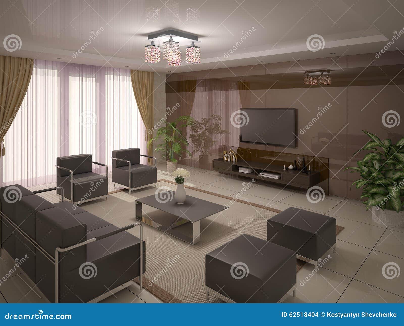 Comfortable Living Room Stock Illustration Image 62518404