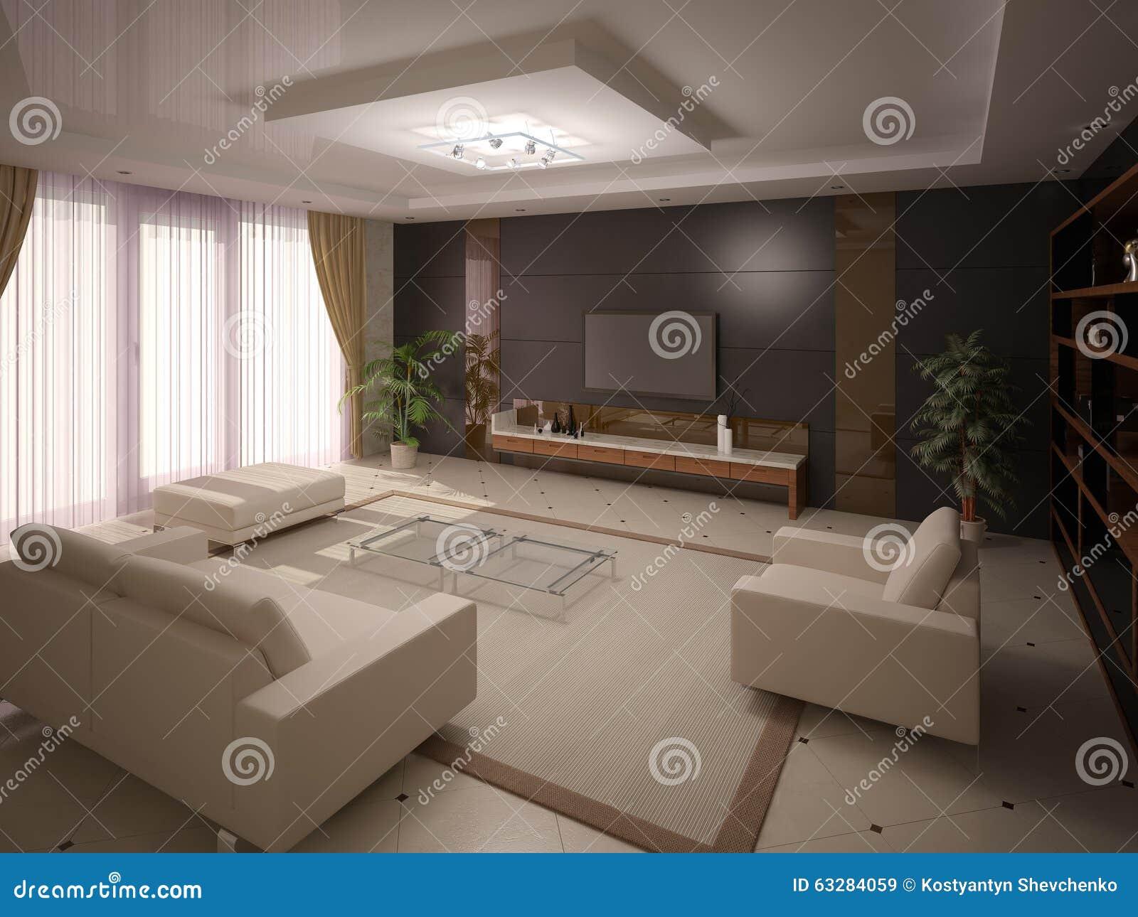 Comfortable Living Room Stock Illustration Image 63284059