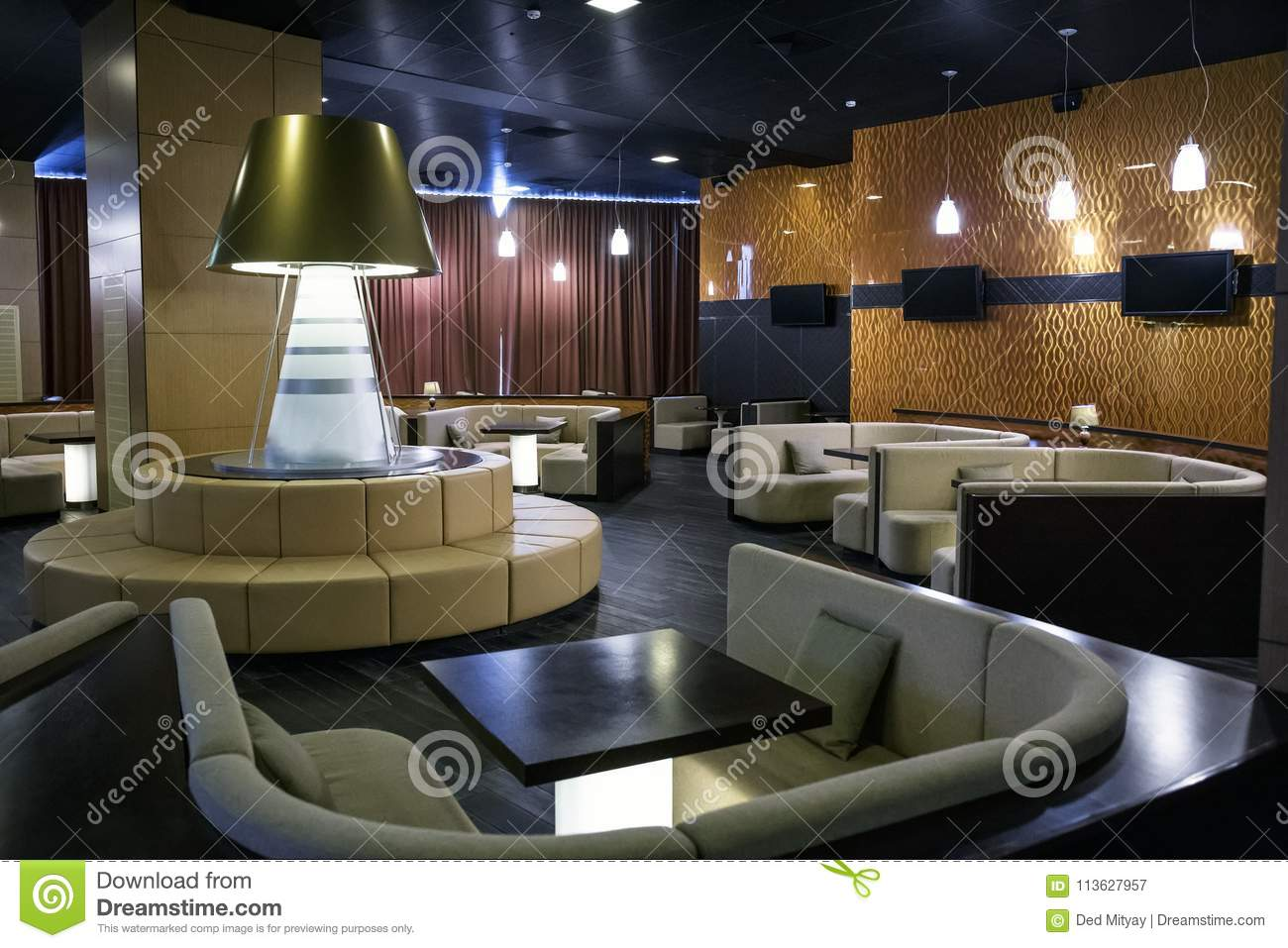 Comfortable Lounge Zone In Luxury Interior In Hotel Lobby Or