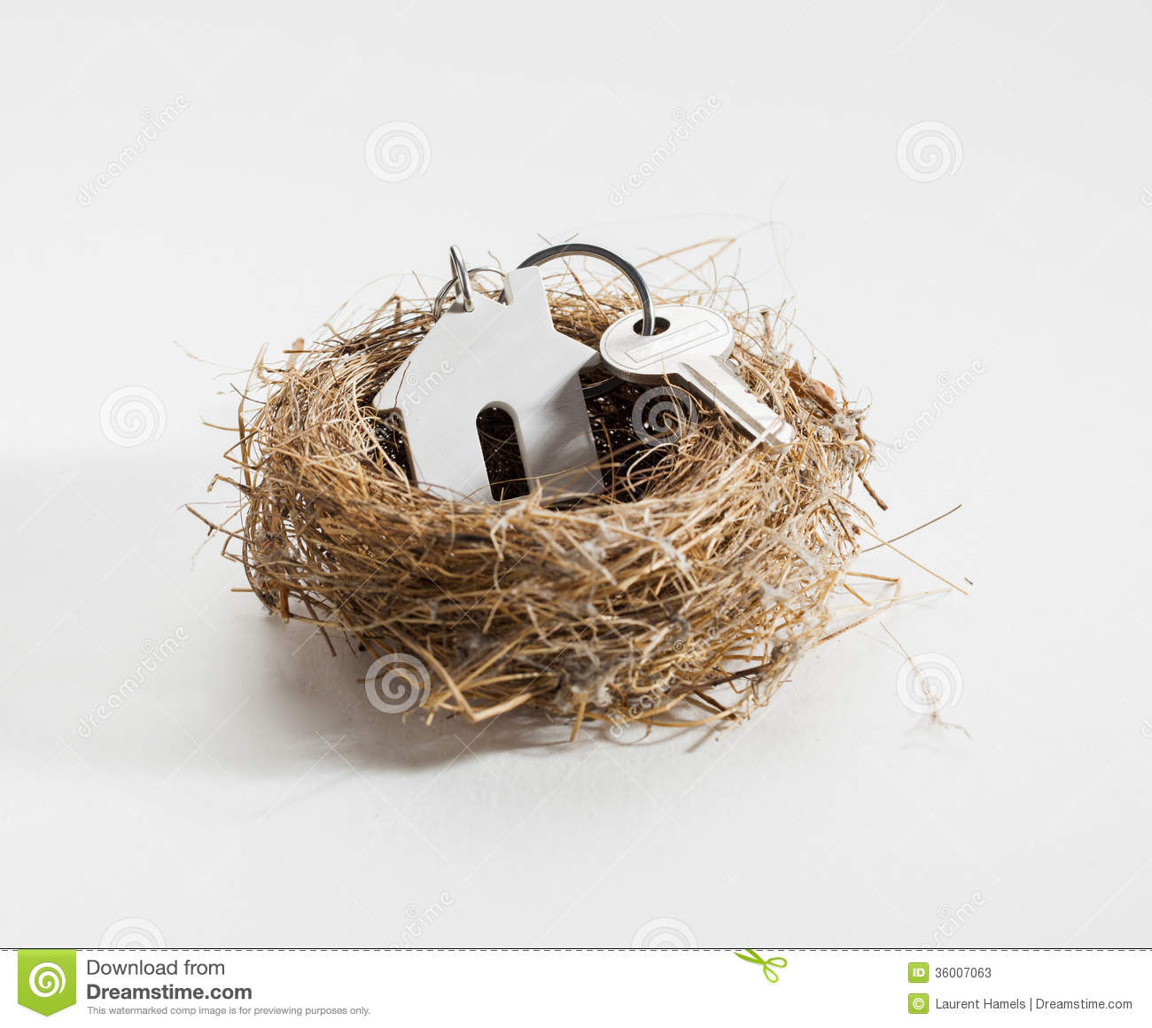 Comfortable Nest For New Home Ownership Stock Photos ... Key To Success Clipart
